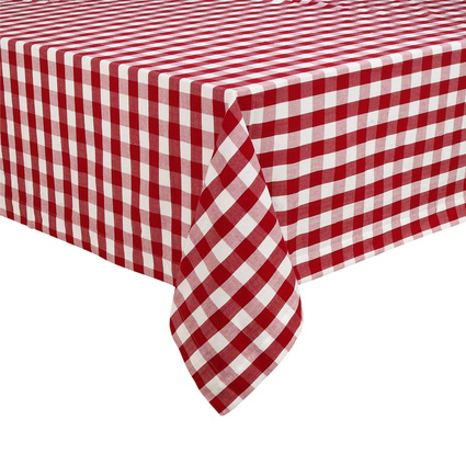 Gingham Plaid Tablecloth