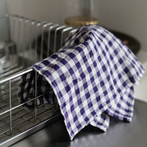 Gingham Plaid Linen Cloth